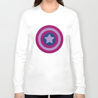 bisexual Long Sleeve T-shirts featuring American Pride (bisexual edition) by Nikki Homicide