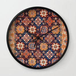 Tuduc Romanian Holbein Carpet Replica Print Wall Clock