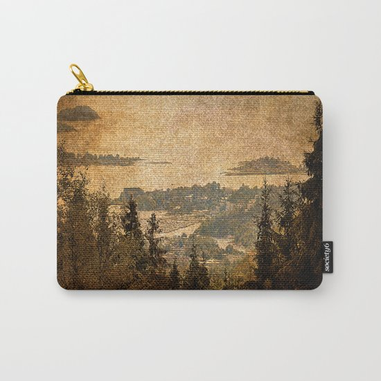 vintage forest landscape Carry-All Pouch