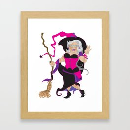 Granny Hex (Purple) Framed Art Print