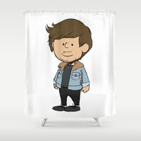 louis tomlinson Shower Curtains featuring Schulz Louis by Ashley R. Guillory