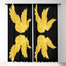 Golden Archangel Wings Blackout Curtain