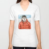 fargo V-neck T-shirts featuring Lester Nygaard… He'd hate for your pretty face to freeze…  by suPmön