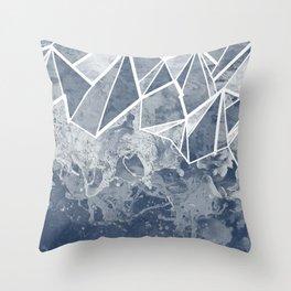 Cloud Splash Emoji Throw Pillow