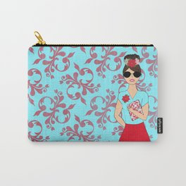 December Plannergirl with Flourish background Carry-All Pouch