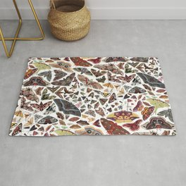 Moths of North America Pattern Rug