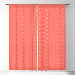 Coral polka dot Blackout Curtain