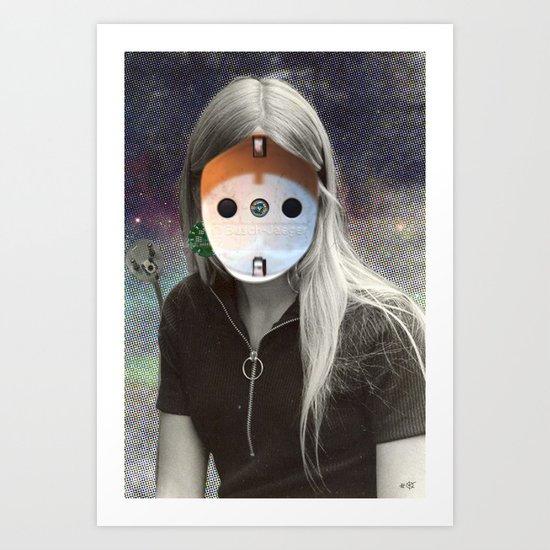 Plug & Play Woman - Model: Busch Jaeger Art Print