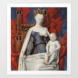 Madonna and Child by Jean Fouquet, 1452 Art Print