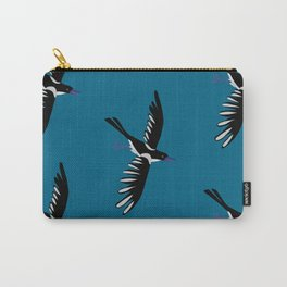 magpie in flight Carry-All Pouch