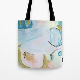 Hands On // Blue original abstract  Tote Bag