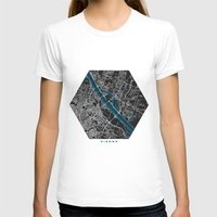 vienna T-shirts featuring Vienna city map black colour by MCartography