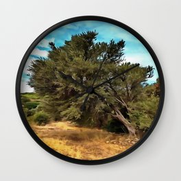 Olive Tree Wall Clock