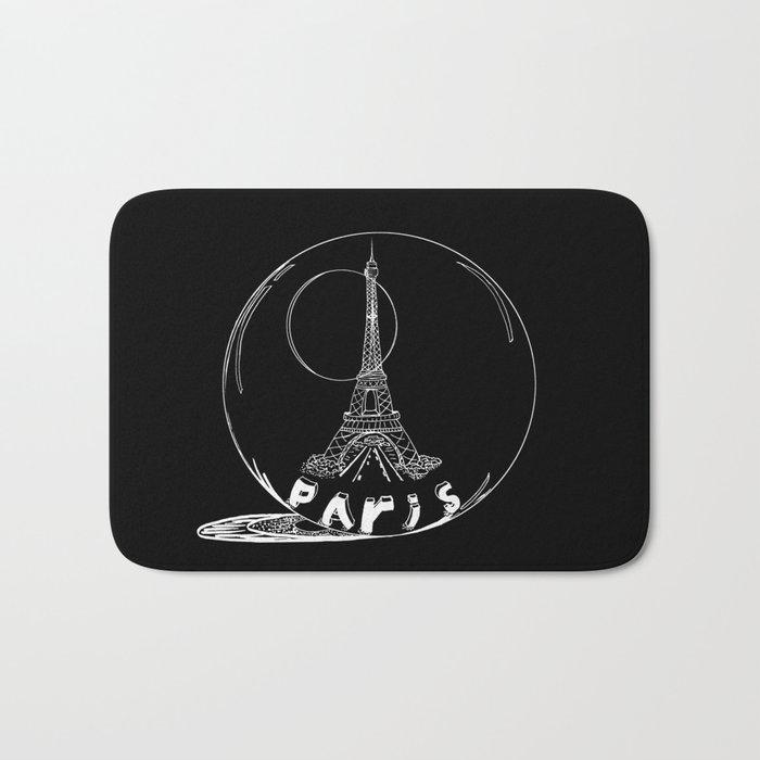 Paris in a glass ball Bath Mat