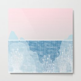 Pastel Sea Landscape Design Metal Print