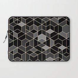 Black geometry / hexagon pattern Laptop Sleeve