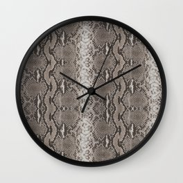 Python Snakeskin Print Wall Clock