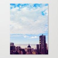 skyline Canvas Prints featuring skyline by Maria Ostapchuk