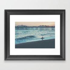 the lone surfer ...  Framed Art Print