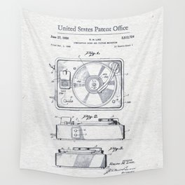Record player 1950 Wall Tapestry