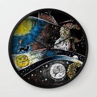 fairy tale Wall Clocks featuring Fairy Tale by MYRiPA