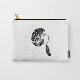 Traditional tatto gypsy girl Carry-All Pouch