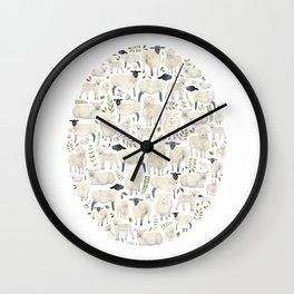 Sheep. Wall Clock