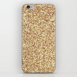Elegant Gold Glitter iPhone Skin