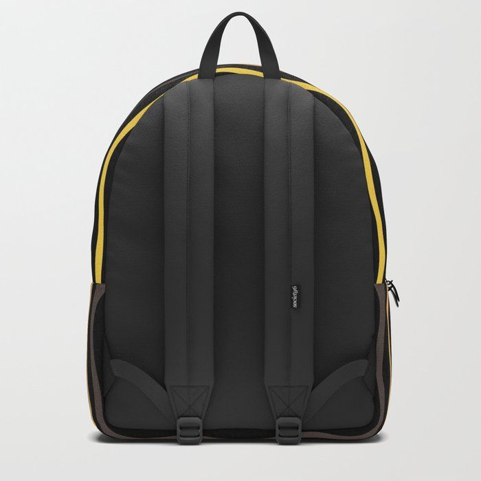 Happy Lines on Black Backpack