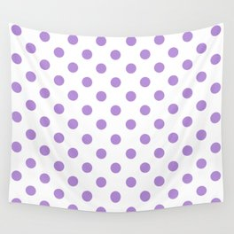 Polka Dots (Lavender & White Pattern) Wall Tapestry