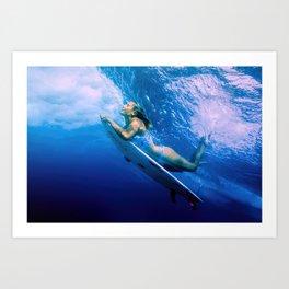 Surf Underwave Art Print