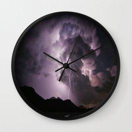 lightning clouds in Falaj Sudayriyin, Al Bāţinah, Oman Wall Clock