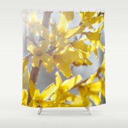 Sunlit Forsythia Shower Curtain