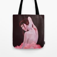 pomegranate Tote Bags featuring Pomegranate  by Jen Mann