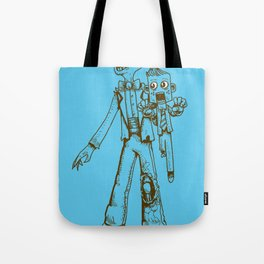 Zombie Ventriloquist by RonkyTonk Tote Bag