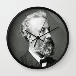 portrait of Jules Verne by Nadar Wall Clock