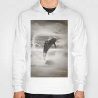 dolphin Hoodies featuring Dolphin by nicky2342