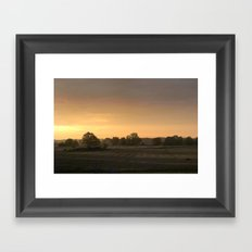 Sunrise in August Framed Art Print