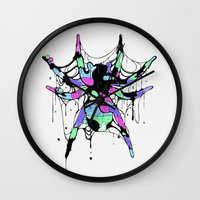 spider Wall Clocks featuring SPIDER by maivisto