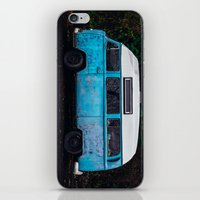 vw bus iPhone & iPod Skins featuring Vintage VW Bus Rusted  by Limitless Design