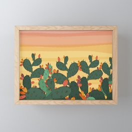 Opuntia ficus Framed Mini Art Print