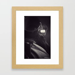 Old friends sitting down for a cup of tea Framed Art Print