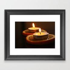 Orange Candles Framed Art Print