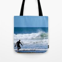 surfer Tote Bags featuring Surfer by JohnJohn22