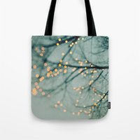 lights Tote Bags featuring Lights  by Laura Ruth