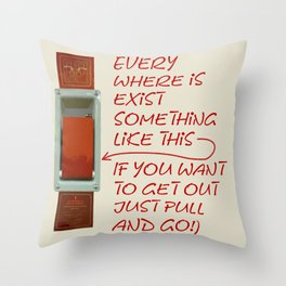 Just pull and go! Throw Pillow