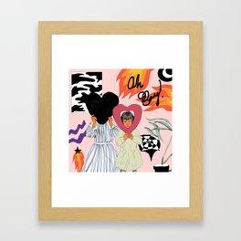 123 Framed Art Print