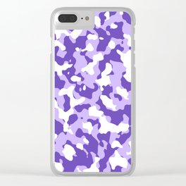 Camouflage Purple Clear iPhone Case