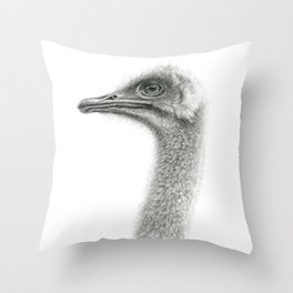 Cute Ostrich Profile SK054 Throw Pillow