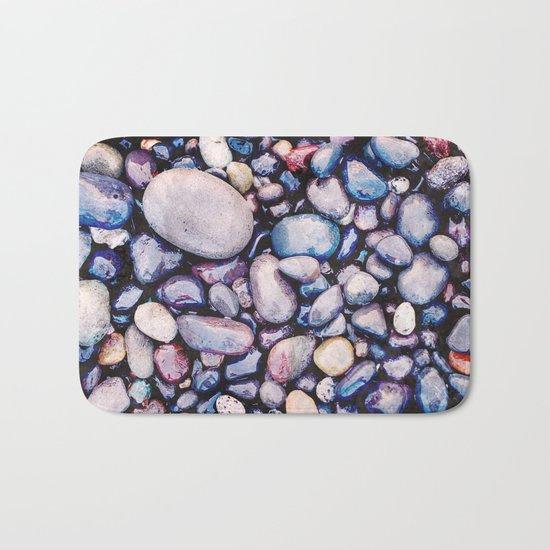 Stones On Beach Bath Mat